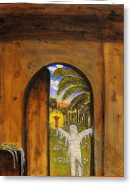 Lazarus Come Out Greeting Card by Larry Farris