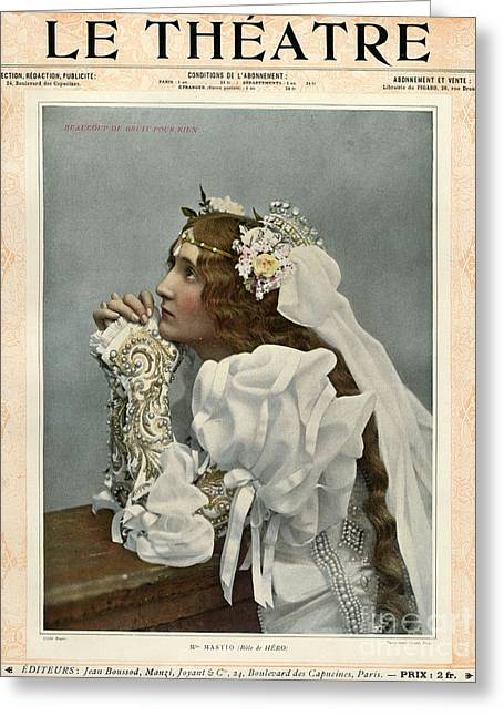Le Theatre 1899 1890s France Magazines Greeting Card by The Advertising Archives
