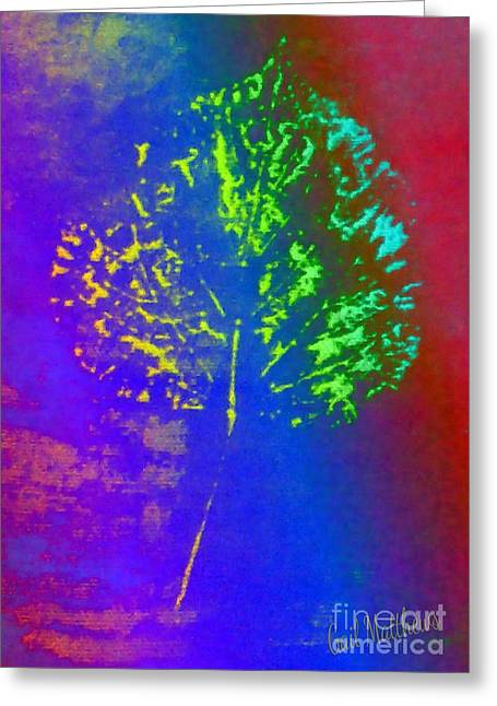 Leaf Imprint  Greeting Card