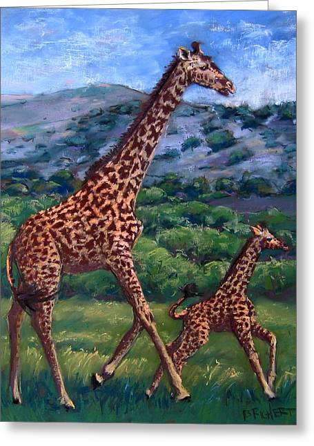 Learning To High Step Greeting Card by Barbara Richert