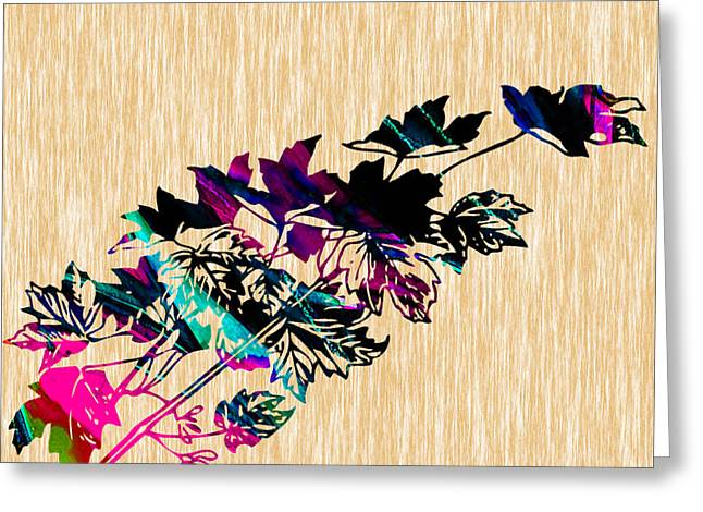 Leaves Greeting Card by Marvin Blaine