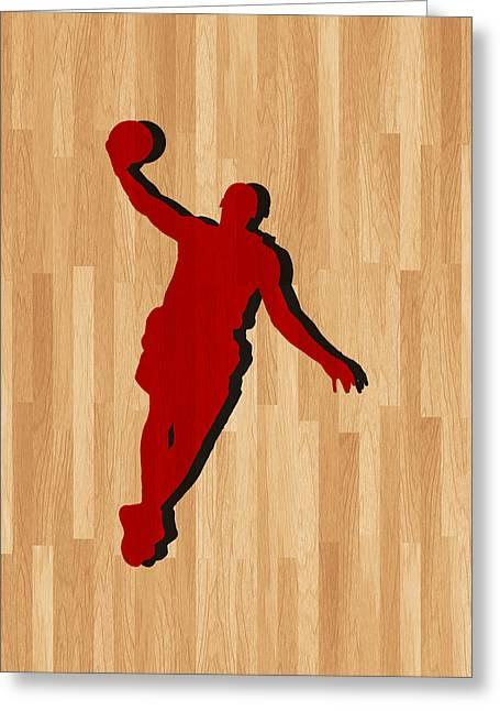 Lebron James Miami Heat Greeting Card