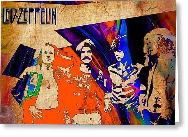 Led Zeppelin Painting Greeting Card