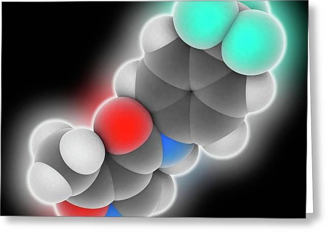Leflunomide Drug Molecule Greeting Card by Laguna Design