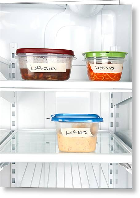 Leftovers In Refrigerator Greeting Card