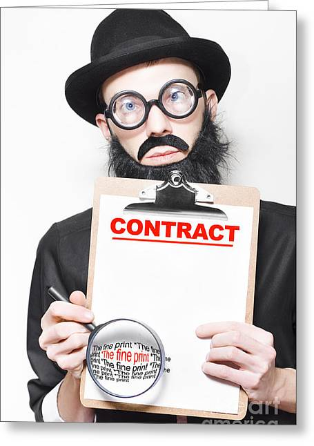 Legal Advisor Warning About Signing House Contract Greeting Card by Jorgo Photography - Wall Art Gallery