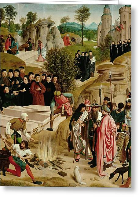Legend Of The Relics Of St. John The Baptist Greeting Card by Geertgen Tot Sint Jans