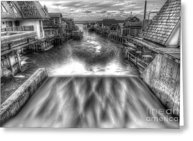 Leland River In Fishtown Greeting Card by Twenty Two North Photography