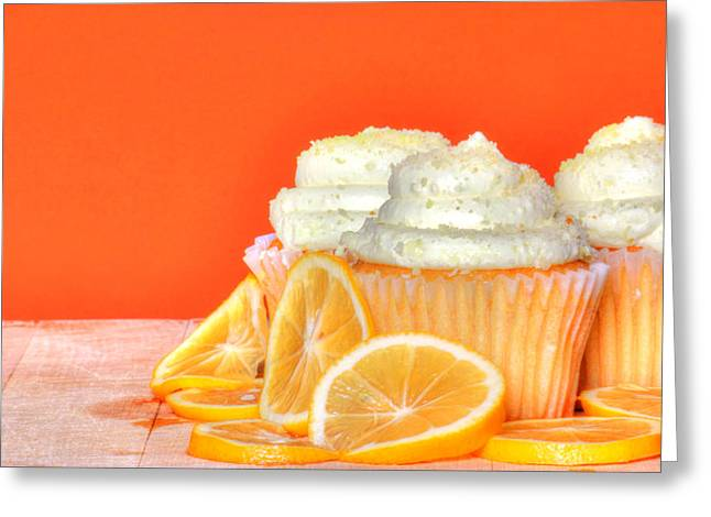 Lemon Cupcakes Greeting Card by Sophie Vigneault
