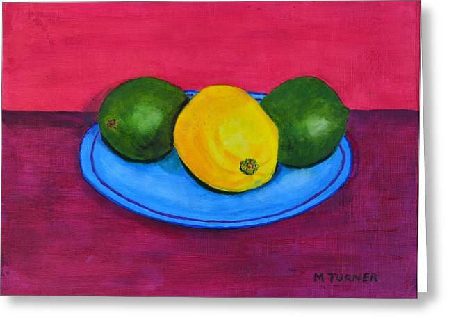 Lemon Or Lime Greeting Card by Melvin Turner