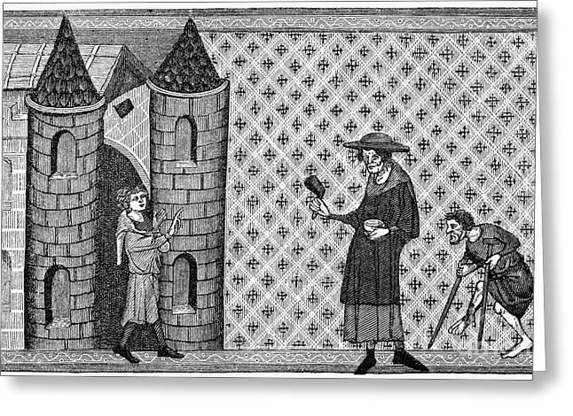 Leper House, C1220-1244 Greeting Card by Granger