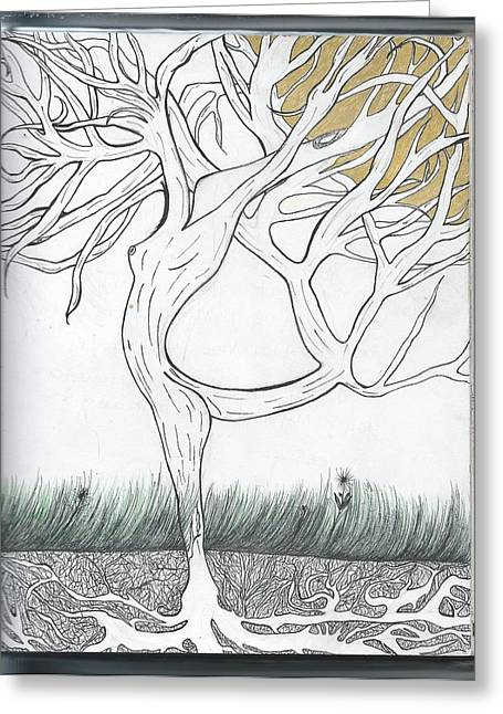 Let Me Grow For You Greeting Card by Jessie R Ojeda