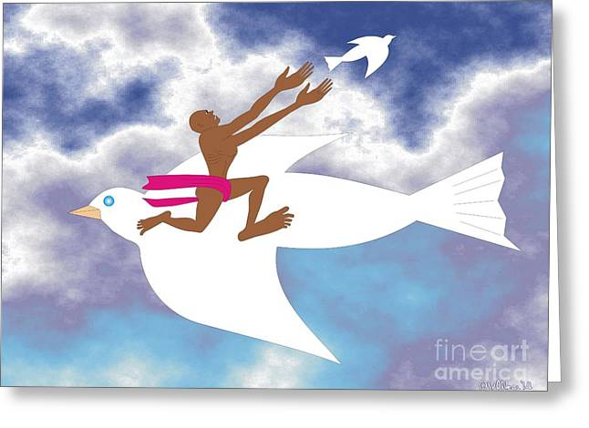 Letting Go 2 Greeting Card by Walter Oliver Neal