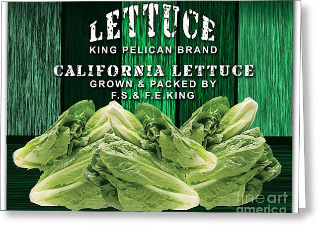 Lettuce Farm Greeting Card