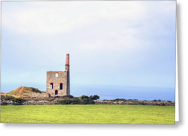 Levant Mine - Cornwall Greeting Card by Joana Kruse