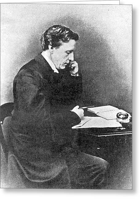 Lewis Carroll Alias Charles Lutwidge Greeting Card by Mary Evans Picture Library