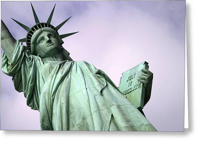 Liberty Lady Greeting Card