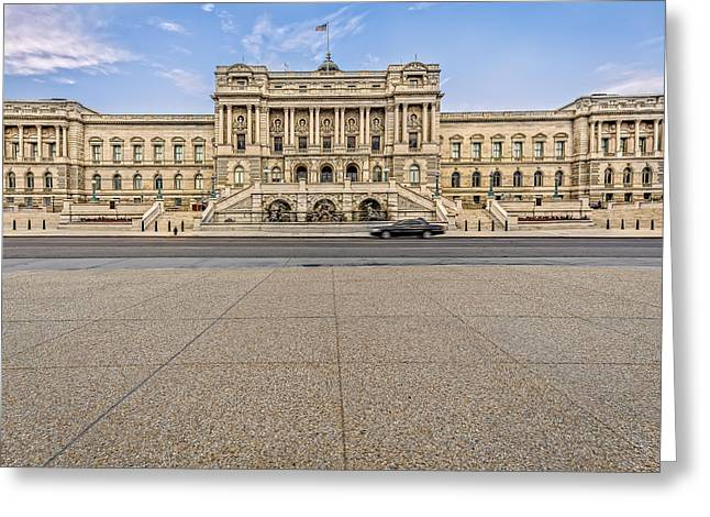 Greeting Card featuring the photograph Library Of Congress by Peter Lakomy