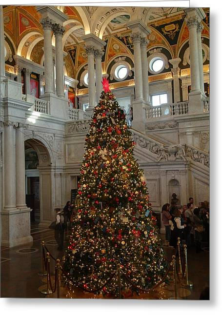 Library Of Congress - Washington Dc - 01138 Greeting Card by DC Photographer