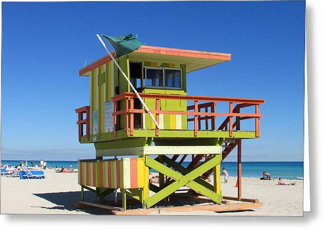 Lifeguard Stand Greeting Card by Rosie Brown