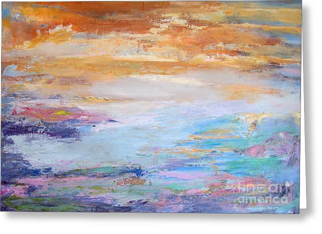 Greeting Card featuring the painting Light And Air by John Nussbaum