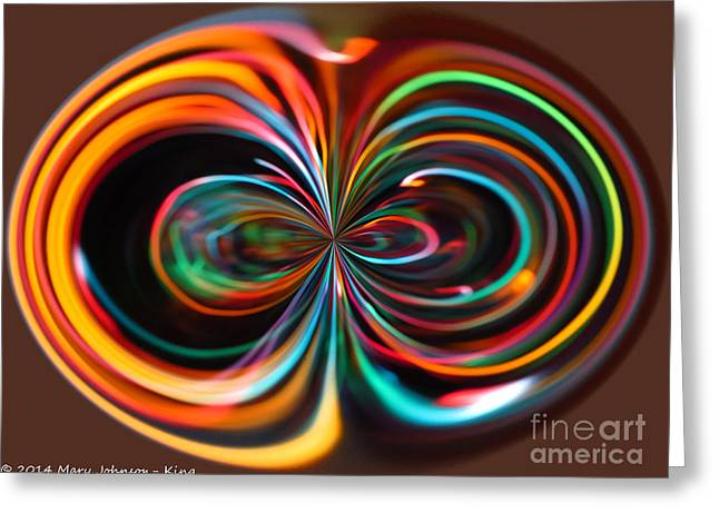 Light Art Greeting Card