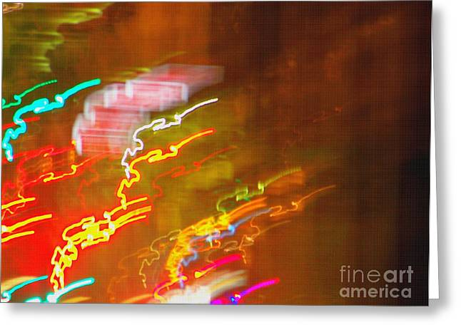 Light Painting - Paris - France  Greeting Card by Francoise Leandre