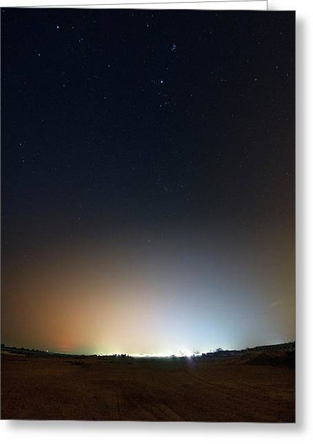 Light Pollution Greeting Card by Babak Tafreshi