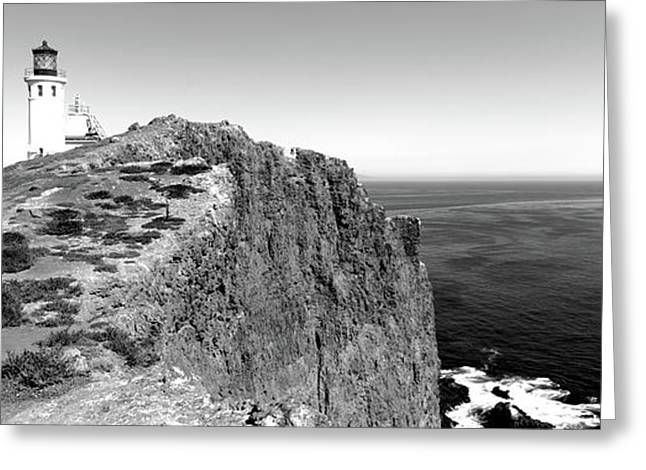 Lighthouse At A Coast, Anacapa Island Greeting Card