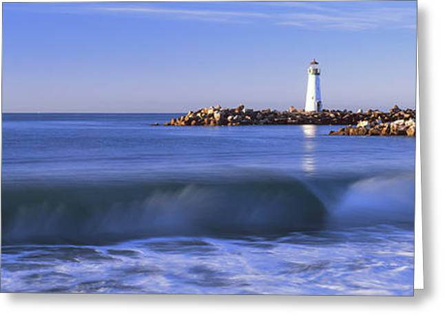Lighthouse At The Coast, Walton Greeting Card