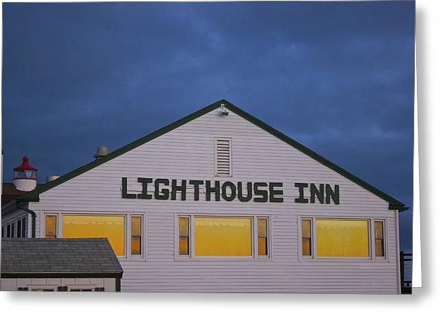Lighthouse Inn Greeting Card