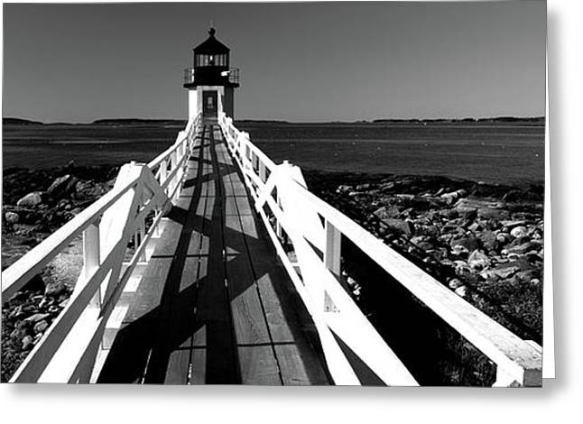 Lighthouse On The Coast, Marshall Point Greeting Card by Panoramic Images