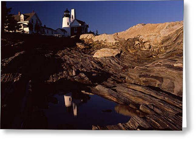 Lighthouse On The Coast, Pemaquid Point Greeting Card