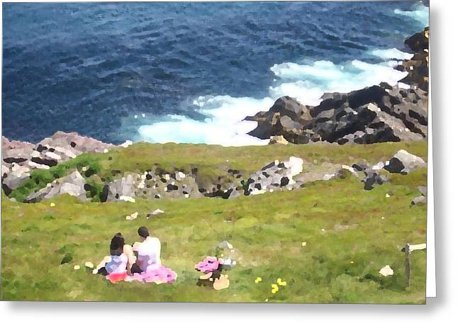 Greeting Card featuring the photograph Lighthouse Picnic by Zinvolle Art