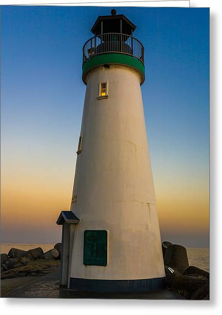 Lighthouse Greeting Card by Tommy Farnsworth