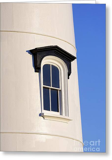 Lighthouse Window Greeting Card by John Greim