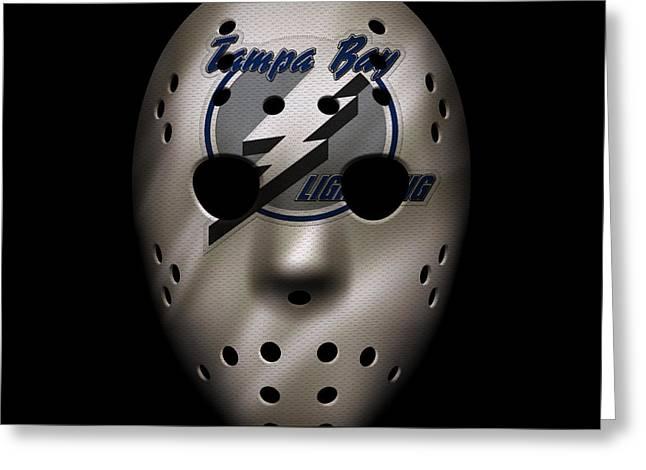 Lightning Jersey Mask Greeting Card by Joe Hamilton