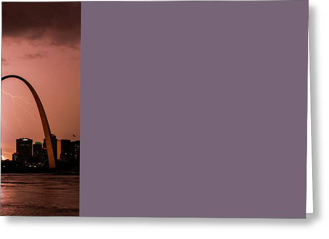 Lightning Storm Over St Louis Greeting Card
