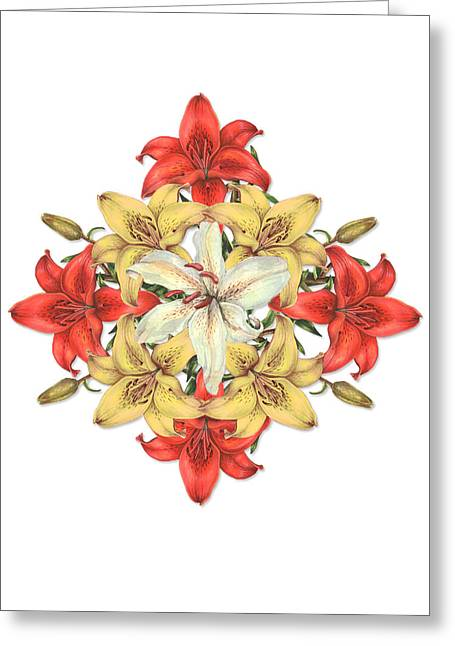 Lily Cluster Greeting Card