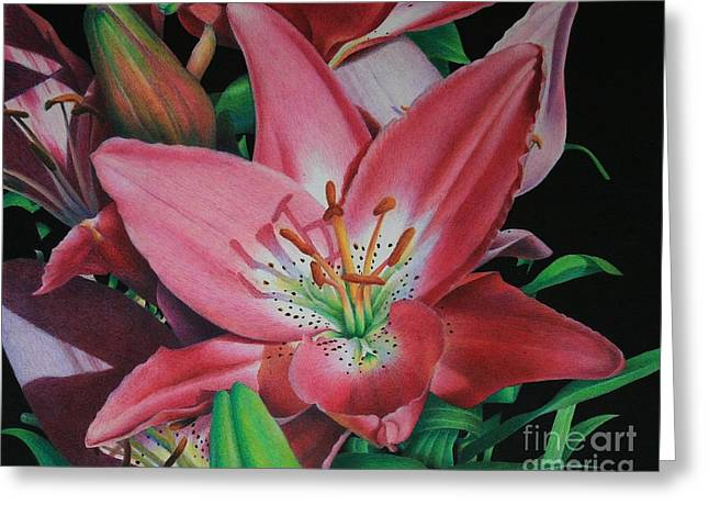 Lily's Garden Greeting Card