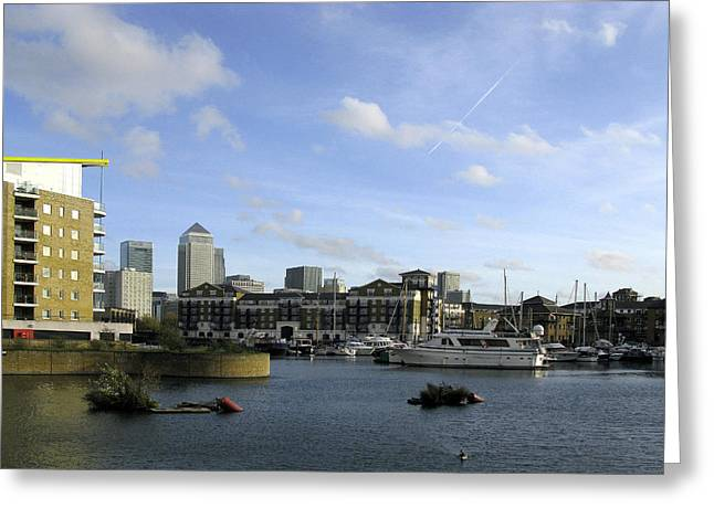 Greeting Card featuring the photograph Limehouse Basin by Helene U Taylor