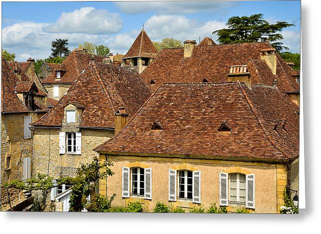 Greeting Card featuring the photograph Limeuil En Perigord by Dany Lison