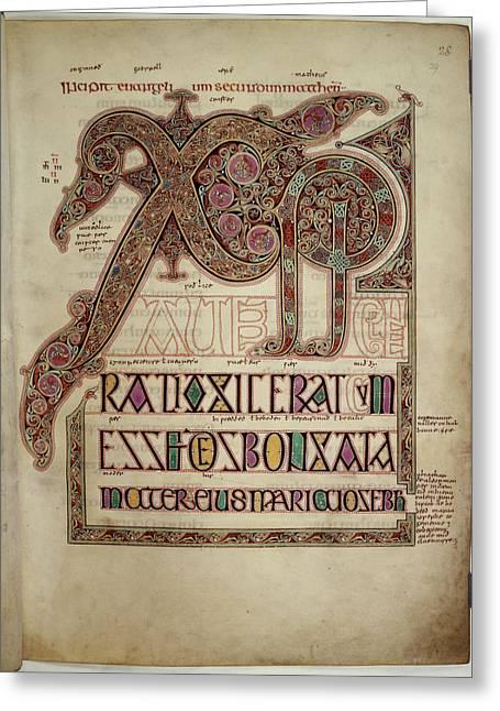Lindisfarne Gospels Greeting Card by British Library