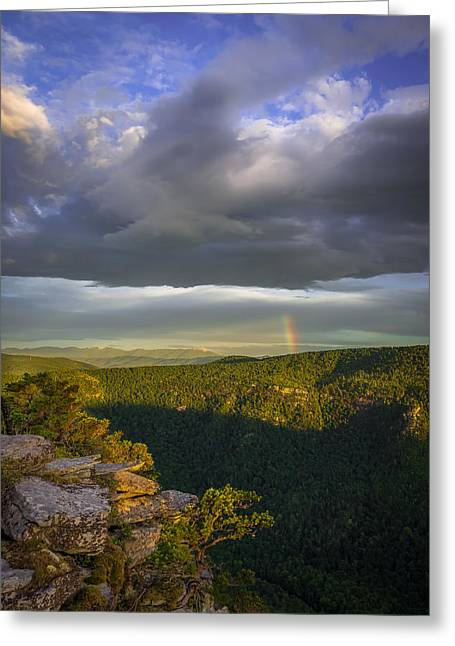 Linville Gorge Sunrise Greeting Card by Serge Skiba