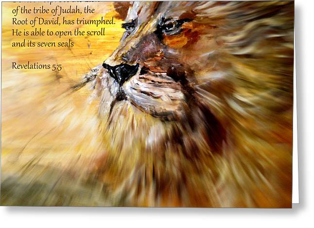 Lion Of Judah Courage Greeting Card