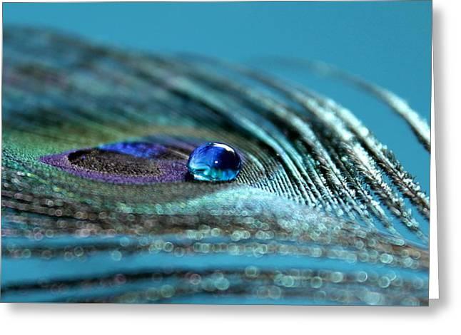 Liquid Blue Greeting Card