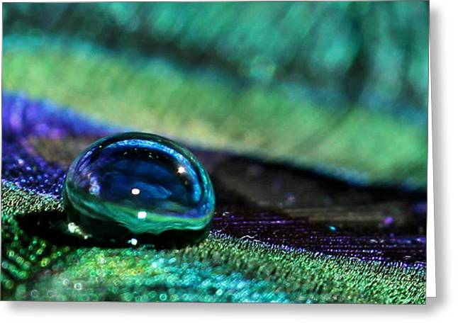 Liquid Marble Greeting Card by Krissy Katsimbras