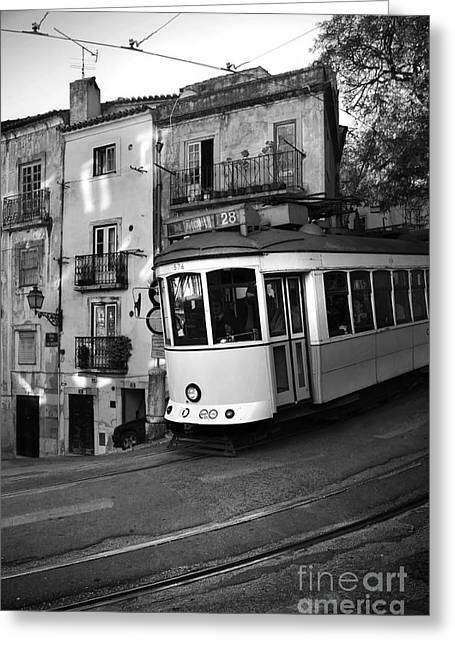 Lisbon Tram Greeting Card by Carlos Caetano