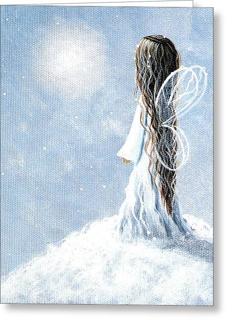 Little Fairy By Shawna Erback Greeting Card by Shawna Erback