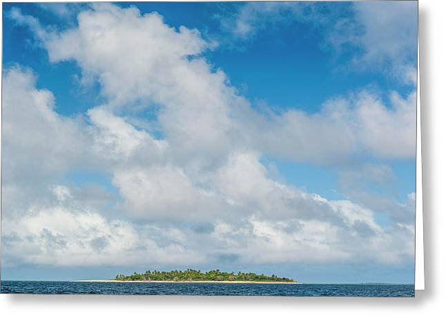 Little Island With A White Sand Beach Greeting Card by Michael Runkel
